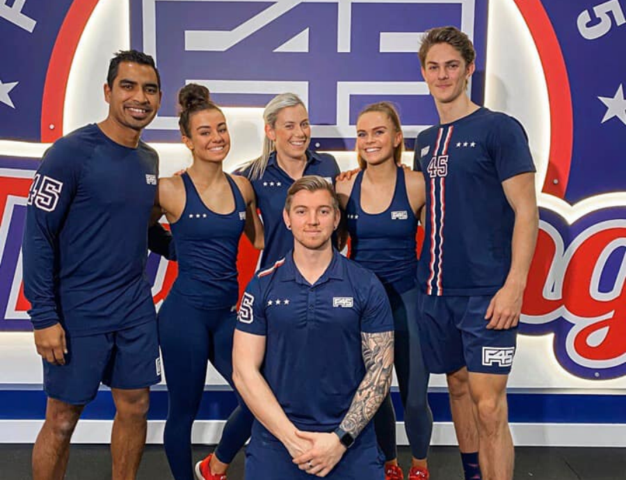 The team of trainers at F45 Bowral