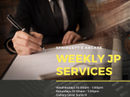 JP every Wednesday and Saturday at Springett's Arcade