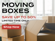 50% off Moving Boxes