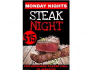 Steak Night at Hotel Bargo (TEMPORARILY UNAVAILABLE)