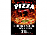 Hot & Fresh $15 Pizza at Hotel Bargo