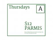 $12 Parmis at Argyle Hotel